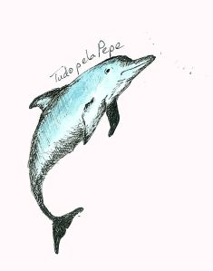 Option one - Pepe the dolphin illustration